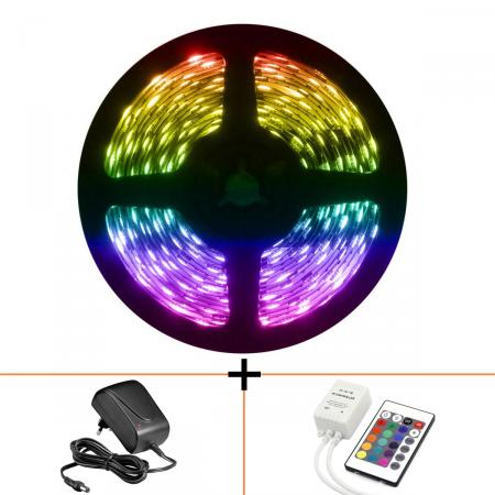 Ledstrip Set Compleet - Perel - 5 m - Plug And Play!